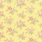 Moda Whitewashed Cottage by 3 Sisters - 3752 - Small Roses on Yellow - 44065 15 - Cotton Fabric